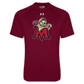 Under Armour Maroon Tech Tee-Lion with M