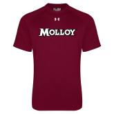 Under Armour Maroon Tech Tee-Molloy Wordmark