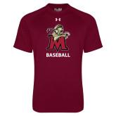 Under Armour Maroon Tech Tee-Baseball