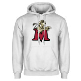 White Fleece Hoodie-Lion with M