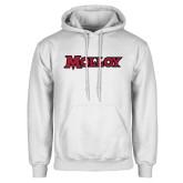 White Fleece Hoodie-Molloy Wordmark