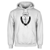White Fleece Hoodie-Nursing Logo