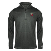Russell Charcoal Heather 1/4 Zip-Lion with M
