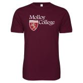 Next Level SoftStyle Maroon T Shirt-Institutional Logo