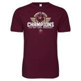Next Level SoftStyle Maroon T Shirt-2019 Womens Soccer Champs