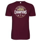 Next Level SoftStyle Maroon T Shirt-2019 Volleyball Champs