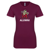 Next Level Ladies SoftStyle Junior Fitted Maroon Tee-Alumni