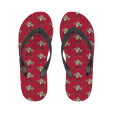 Ladies Full Color Flip Flops-Lion with M