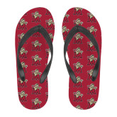 Full Color Flip Flops-Lion with M