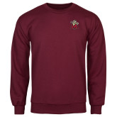 Maroon Fleece Crew-Lion with M