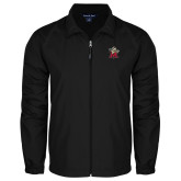 Full Zip Black Wind Jacket-Lion with M