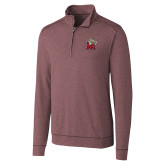 Cutter & Buck Shoreline Maroon 1/2 Zip-Lion with M