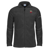 Columbia Full Zip Charcoal Fleece Jacket-Lion with M