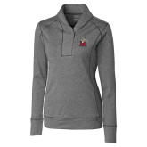 Ladies Cutter & Buck Shoreline Charcoal 1/2 Zip-Lion with M