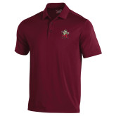 Under Armour Maroon Performance Polo-Lion with M