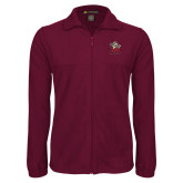 Fleece Full Zip Maroon Jacket-Lion with M