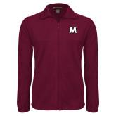 Fleece Full Zip Maroon Jacket-M