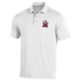 Under Armour White Performance Polo-Lion with M