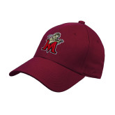 Maroon Heavyweight Twill Pro Style Hat-Lion with M