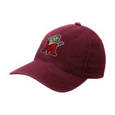 Maroon Flexfit Mid Profile Hat-Lion with M