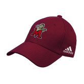 Adidas Maroon Structured Adjustable Hat-Lion with M