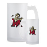 Full Color Decorative Frosted Glass Mug 16oz-Lion with M