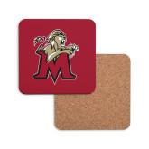 Hardboard Coaster w/Cork Backing-Lion with M