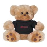 Plush Big Paw 8 1/2 inch Brown Bear w/Black Shirt-Molloy Wordmark