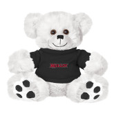 Plush Big Paw 8 1/2 inch White Bear w/Black Shirt-Molloy Wordmark