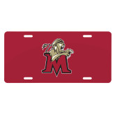 License Plate-Lion with M