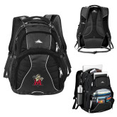 High Sierra Swerve Black Compu Backpack-Lion with M