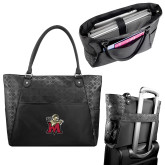 Sophia Checkpoint Friendly Black Compu Tote-Lion with M