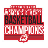 Medium Decal-2017 Northern Sun Intercollegiate Conference Men and Women Champions