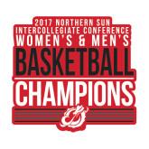 Medium Decal-2017 Northern Sun Intercollegiate Conference Men and Women Champions