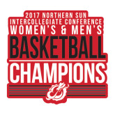 Large Decal-2017 Northern Sun Intercollegiate Conference Men and Women Champions