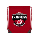 Red Drawstring Backpack-2017 Northern Sun Intercollegiate Conference Womens Champions