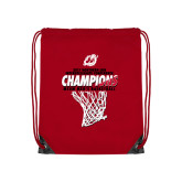 Red Drawstring Backpack-2017 Northern Sun Intercollegiate Conference Mens Champions