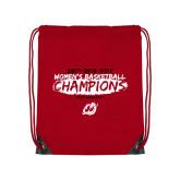 Red Drawstring Backpack-2018 Womens Basketball Champions