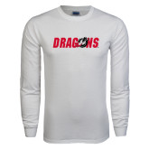 White Long Sleeve T Shirt-Dragons