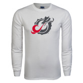 White Long Sleeve T Shirt-Dragon Mark