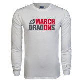 White Long Sleeve T Shirt-March On Dragons