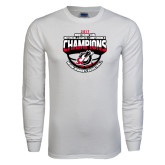 White Long Sleeve T Shirt-2017 Northern Sun Intercollegiate Conference Womens Champions