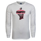 White Long Sleeve T Shirt-2017 Northern Sun Intercollegiate Conference Mens Champions