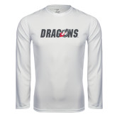 Performance White Longsleeve Shirt-Dragons