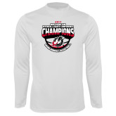 Syntrel Performance White Longsleeve Shirt-2017 Northern Sun Intercollegiate Conference Womens Champions