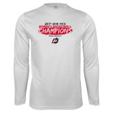 Performance White Longsleeve Shirt-2018 Womens Basketball Champions