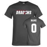 Charcoal T Shirt-Official Logo, Custom Tee w/ Name and #