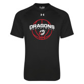 Under Armour Black Tech Tee-Basketball Design