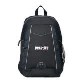Impulse Black Backpack-Dragons