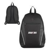 Atlas Black Computer Backpack-Dragons